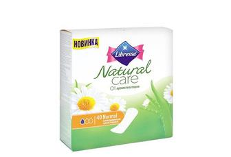 Прокладки щоденні Natural Care Normal, з екстрактом алое вера та ромашки Libresse 40 шт.