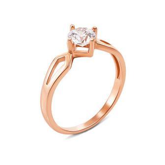 Золотое кольцо с фианитом Swarovski Zirconia. Артикул 12303/SW