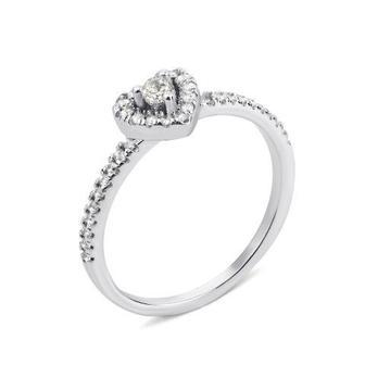 Серебряное кольцо с фианитами (1RI56463-R)