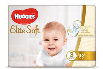 Підгузки Huggies Elite Soft Mega Pack 3 (5-9 кг) 80 шт./уп