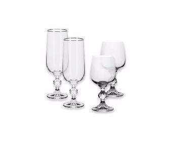 Набір бокалів  для шампанського 180 мл або для вина 230 мл   Богемія, 6 шт