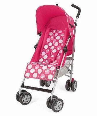 Прогулянкова коляска Nanu рожевого кольору від Mothercare