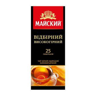 Чай Майский Відбірний Високогірний чорний індійський байховий 25шт