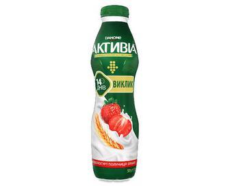 Біфідойогурт «Активіа» полуниця-злаки, 1,5% жиру, 580г