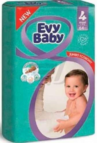 Підгузки Evy Baby Максі Джамбо упаковка 7-18 кг 64 шт.