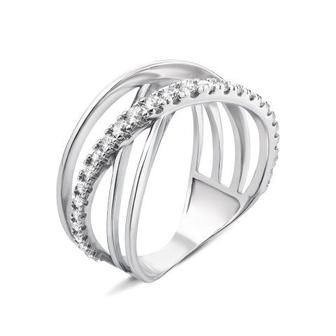 Серебряное кольцо с фианитами. Артикул AZ01084