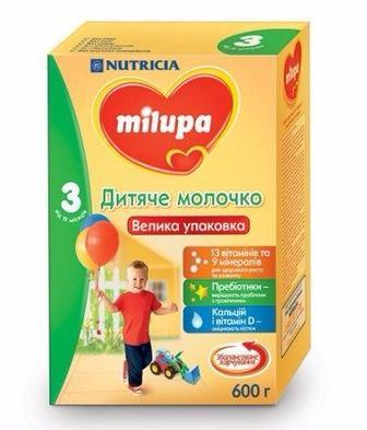 Дитяче молочко Milupa 3 350г, 600г