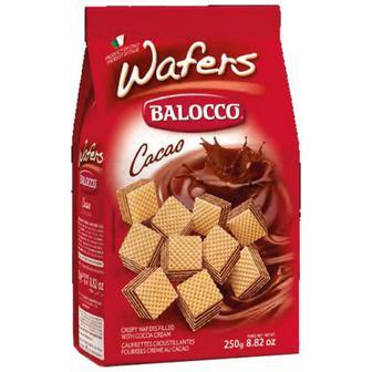 Вафлі Balocco Cacao хрусткі з кремом какао 125г