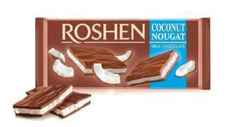 Шоколад молочний з кокосовою нугою 90г