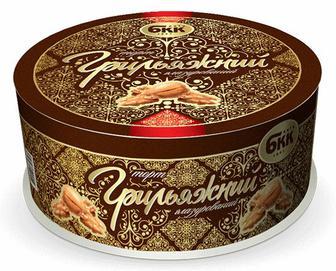 Торт БКК «Грильяжний» глазурований, 850г