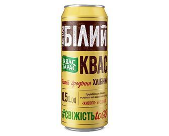 Квас «Квас Тарас» «Білий хлібний» з/б, 0,5л