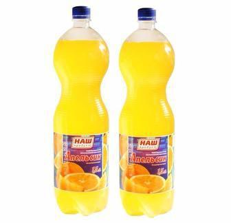 Вода солодка Наш Продукт Оранж, Кола 2л