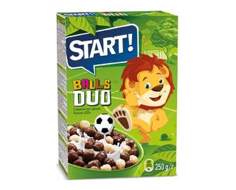 Сніданки сухі зернові Start! кульки Duo, 250 г