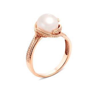 Золотое кольцо с жемчугом. Артикул 12546