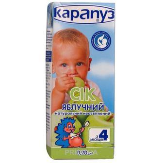 Сік яблучний Карапуз 180г