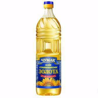 Олія соняшникова рафінована Золота Чумак 1л