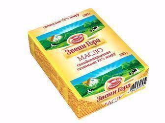 Масло солодковершкове Селянське 73% Звени Гора 200г