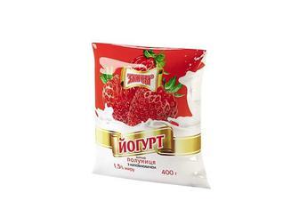 Йогурт Полуниця, 1,5% Злагода 400 г