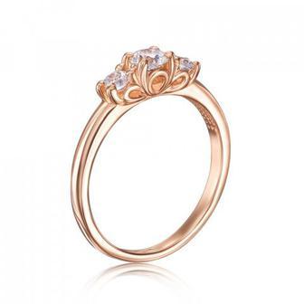 Скидка 51% ▷ Золотое кольцо с фианитами Swarovski. Артикул 13318/01/0/1829