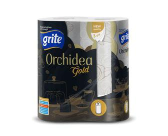 Рушники паперові Grite Orchidea Gold, 2 рулони/уп