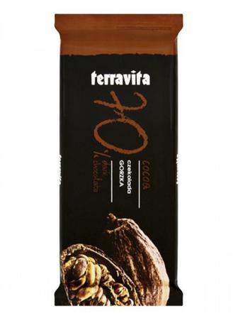 Шоколад чорний 70% 100г Terravita