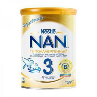 Смесь молочная Nestle NAN 3 Гипоаллергенный 400 г
