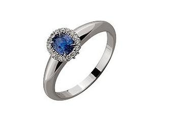 Золотое кольцо с бриллиантами и корундом Артикул 01-17479223