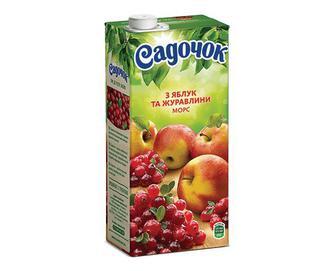 Морс «Садочок» з яблук та журавлини, 0,95л