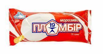 Морозиво Пломбір 19 Хладик, 75г