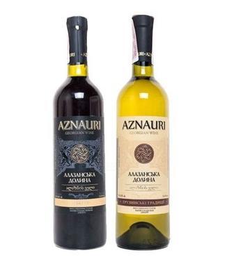 Вино Алазанская долина Азнаури  красн., белое, п/сл, 0,75 л