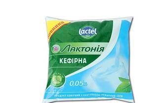 Продукт кефірний Лактонія з лактулозою, нежирний, 0,05% Lactel 400 г