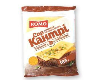 Сир напівтвердий Кантрі 50% КОМО, 185 г