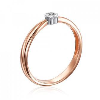 Золотое кольцо с бриллиантами. Артикул 800020/14/1/9082