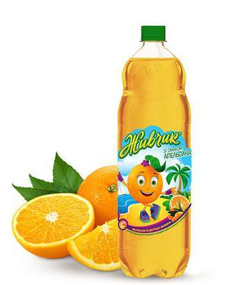 Напій класичний, негазований, Апельсин Живчик 1 л