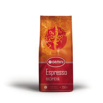 Кава в зернах Еспрессо Джеміні 250 г