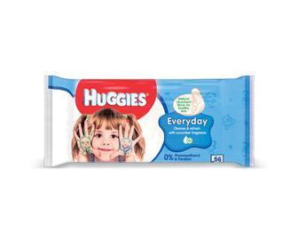 Серветки вологі Huggies на кожен день, 56 шт.
