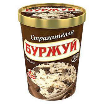 Морозиво Буржуй Страчателла Ласунка 500г