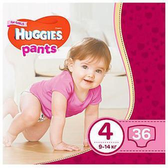 Детские подгузники-трусики Huggies 58/68/78шт