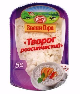 Скидка 19% ▷ Сир кисломолочний ніжний 5% Звени Гора 330 г