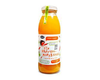 Сік прямого віджиму яблучно-морквяний «Премія»® 0,3л
