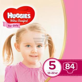 Підгузки Huggies Ultra Comfort 5 12-22 кг 84 шт. для дівчинки