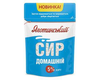 Сир кисломолочний «Яготинський» домашній 5% жиру, 300г