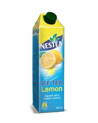 Холодни чорний чай зі смаком лимона або персика Nestea 0,95л
