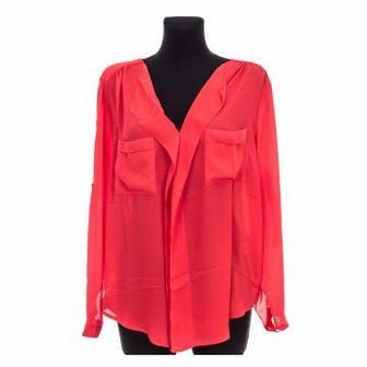 Блуза FRANSA  красная/светло-розовая/голубая