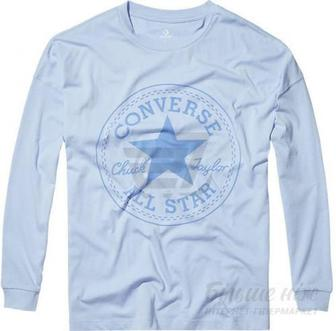 Скидка 40% ▷ Футболка Converse Core CP Long Sleeve Tee 10004569-457 S блакитний