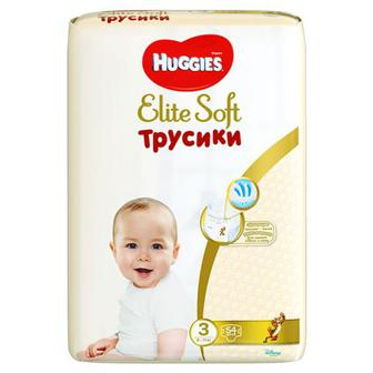 Скидка 28% ▷ Підгузники-труси Huggies Elite Soft Pants(3) Mega 54шт