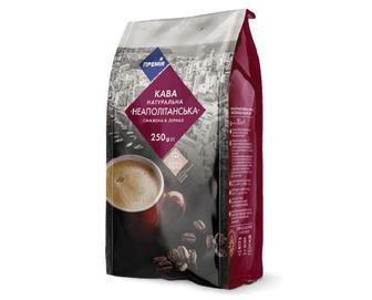 Кава натуральна смажена в зернах «Неаполітанська» «Премія»® 250г