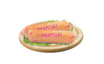 Ковбаса Лікарська в білкозині Глобино 500