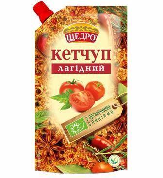 Кетчуп Лагідний, Шашличний, Щедро, 300 г