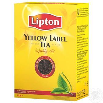 Чай Ліптон листовий чорний/зелений 80г